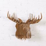 Artesanato de madeira criativo Deer Head Metope Adornment