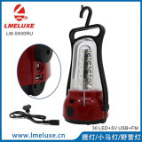 LED portable avec FM Raido et USB Chargeing Camping Light