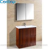 Moderner festes Holz-Badezimmer-Hauptschrank 038