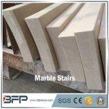 Scala di marmo beige Polished dell'interno per i pavimenti e le scale di marmo in Corridoio & in hotel