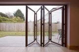 Porte de pliage en bois en verre Tempered de mélèze en bois solide de Woodwin