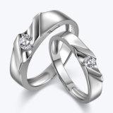 Diseño de Diamante tuberías Conjunto de joyas de plata Anillo de la pareja