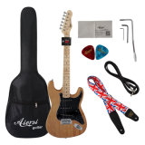 安い価格販売のためのすべての固体マホガニーSt Strato様式のエレキギター