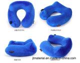 Pulse en el cuello almohada inflable en forma de U Cuello Almohada hinchable de empuje de aire
