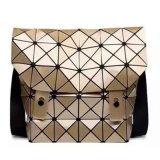De gouden Handtas van de Ontwerper van Pu Ruitvormige Geometrische (m005-2)