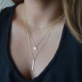 Bijoux en acier inoxydable Collier à trois couches pour femmes
