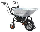 carretilla eléctrica de la capacidad de carga de 250W 120kgs, carretilla de rueda del jardín, carretilla de rueda eléctrica