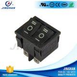 Interruptor de eje de balancín doble de duración del botón de la CA del Pin 250V de Kcd2-502/D 4