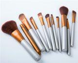 состав 11PCS оборудует профессиональный косметический комплект щетки с холстиной
