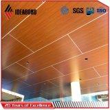 Panneaux de plafond en bois de regard de panneau composé en aluminium d'Ideabond (AE-306)