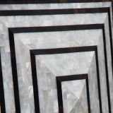 Matriz luxuosa do folheado do projeto da telha da parede do mosaico do escudo da pérola