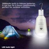 éclairage LED solaire de l'ampoule USB de 7W E27 DEL chargeant l'ampoule