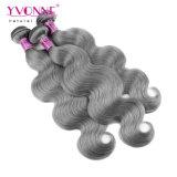 Colorir o Weave brasileiro cinzento do cabelo humano da onda do corpo