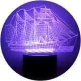 3D 다채로운 장식적인 LED 밤 램프