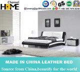 Neues modernes elegantes Entwurfs-weißes Leder-Bett für Schlafzimmer (HC332)