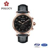 腕時計の工場OEMの本革の高品質の人の腕時計