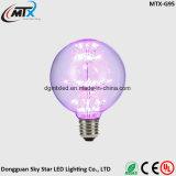 Decoración ahorro de energía del regalo de la Navidad del bulbo del fuego artificial LED de la bombilla E27 220V 3W del cielo de la estrella del diamante G95 del filamento estrellado de la lámpara LED Edison