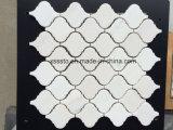 Mattonelle di mosaico di marmo bianche di Carrara della lanterna Polished di Arabesque per l'interiore