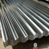 Hoja de acero acanalada galvanizada cubierta cinc del material para techos