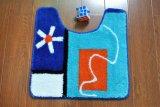 Microfiber oder Acrylbad-Fußboden-rutschfeste Badezimmer-Toiletten-Deckel-Matte