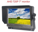 Ahd 720p 7inch LCD車の背面図バックアップモニタ