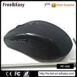 黒いゴム製コーティング2.4GHzの光学マウス無線電信