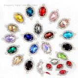 2017 de Nieuwe Zilveren Geplateerde Bevindingen van de Juwelen van het Bergkristal van het Kristal 10*14 van de Schakelaars van de Charme Ovale (tC-Ovaal 10*14mm)