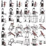 つけられていた列の商業体操のボディービル装置の練習機械