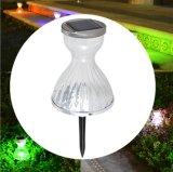 Indicatori luminosi Solare-Alimentati del giardino/paesaggio del LED, lampada economizzatrice d'energia del pannello esterno della DG