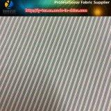 Tela negra de la raya del poliester para la guarnición exclusiva de la ropa (S39.172)
