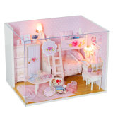 Casa de muñecas miniatura del juguete de madera directo de la fuente de la fábrica