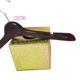 Vente en gros Custom Velvet Flocked 38cm Plastic Clothes Hangers Boutique