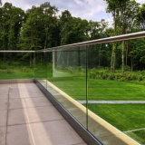 Opgezette de Bovenkant van de Balustrades van het Glas van het aluminium
