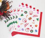 Servilleta de papel de la fiesta de Navidad de las decoraciones coloridas del día de fiesta