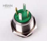 16mm IP67 a prueba de agua de Cuerpo anillo de enclavamiento Empuje el interruptor de botón iluminado