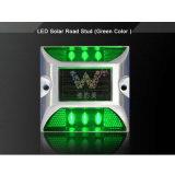 LED verte étanches l'énergie solaire le réflecteur en aluminium marqueur de route