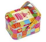 عادة مستطيلة [بورتبل] قصدير صندوق, [جفت بوإكس] حلوة, كعك صندوق, معدن صندوق