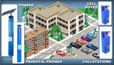 Standplatz-alleinhilfen-Telefon, Straßenrand-Notruftelefon, Aufsatz-Telefon