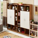 Moderner Entwurfs-hölzerner Farbe MDF-Bücherregal-Bücherschrank