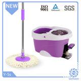 Nettoyeur à plancher pour lecteur de balai à franges en microfibres produit quatre avec la benne