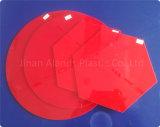 5mm rouge acrylique couleur feuilles de Plexiglas en fonte