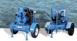 Remorque ou pompe centrifuge montée par dérapage de moteur diesel de l'eau en porte-à-faux