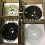 Noir&Brown Emperador lavabo en marbre foncé ronde Bassin pour salle de bains cuisine toilettes