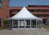 Decagon Hexagon Luxury Permanent Wedding Raj Pagodatent mit Glass Door