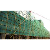 Rede de segurança verde da construção do andaime do HDPE para a segurança da construção