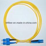 Cavo di zona ottico duplex monomodale della fibra di LC/Upc-Sc/Upc
