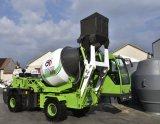 1.8 metro cúbico de Carregamento Automático Móvel de Equipamentos de Construção Betoneira com bomba