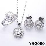 Joyería del diamante de la joyería de la manera fijada en plata 925.