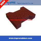 頑丈なRecycled Rubber Tile OutdoorかSquare Interlock Rubber Tile