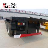 3 Semi Aanhangwagen van de Vrachtwagen van de Lading van het Nut van de Container van de as Flatbed voor Vervoer van de Lading